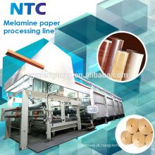 Máquina de processamento de papel de melamina decorativa / Linha de impregnação de papel