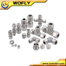 Gas de alta presión todo tipo de tuberías y accesorios de compresión