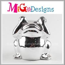 Pretty Frog Covering Eyes Shape Ceramic Piggy Banks