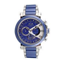 Montre chronographe en acier inoxydable et céramique Badatong Homme