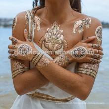 Corpo Sexy Misto Padrão Fácil Movimento Seguro De Metal Tatuagem Adesivo