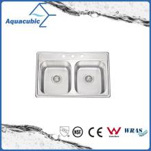 Pia modificada de aço inoxidável econômico (ACS8052EM)