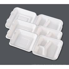 Papier Zellstoff Clemshell / biologisch abbaubare Geschirr