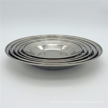 Hot sale Stainless steel 304 food plate Round shape fruit /salad serving plate