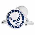 Gold Plating Military U.S. Air Force Enamel Cufflinks