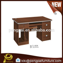 Wooden computer desk design with lock drawers