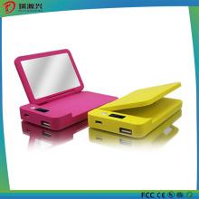Новый двойной Мирор Банк питания компактное зарядное устройство с Зеркало для макияжа