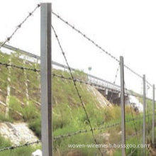 Corrosion Resistent Pvc Coated Electric Galvanized High Tensile Barbed Wire Fencing For Prison