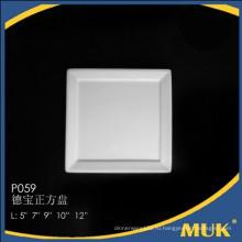 Eurohome оптовая 9 дюймов королевской глазурованной гладкой керамической квадратной пластины
