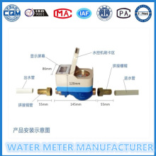 Medidor de agua de prepago para uso residencial