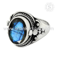 Glitter Blue Labradorite Ring 925 Silver Jewelry Supplier Indian Silver Jewelry