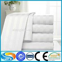 100% algodón solo rayas hojas de cama de hotel utilizado