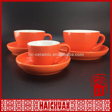 Red flower shape cup and saucer