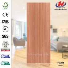 JHK-F01 Хорошее качество Плоский красный Sapelli Природный Глубокая Плесень HDF Простой Дверной Кожиный Завод