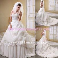 Astergarden real foto Organza rebordear vestido de novia AS048