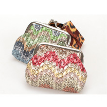 Manufacture Colorful Woven Coin Wallet Purse