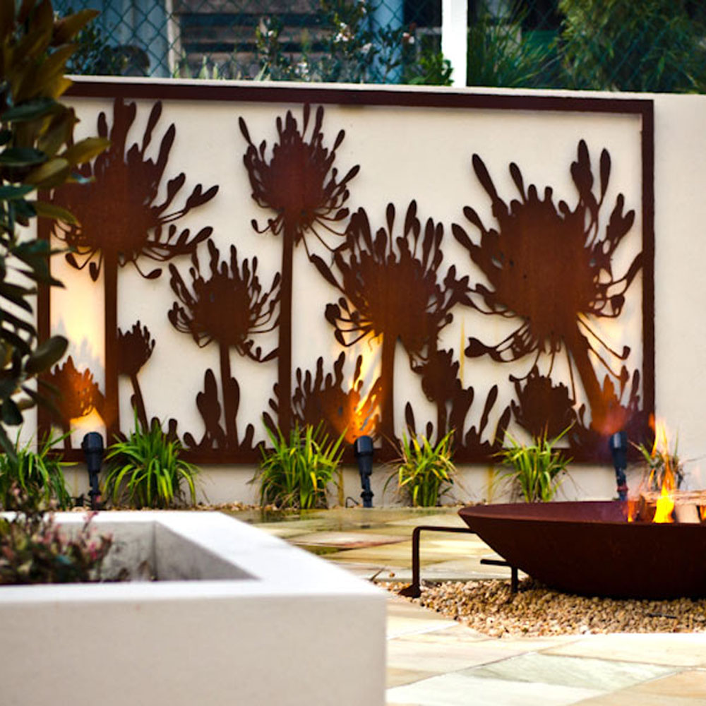 Laser Cut Corten Steel Wall Art Screens