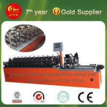 Профилегибочная машина для производства стального гипсокартона.