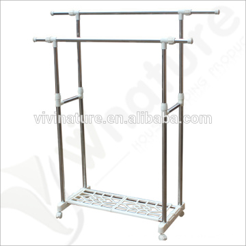 High Quality Laundry Drying Rack with 4 Wheels\Floor Lifting Rust-Proof Drying Rack\Balcony Hanging Clothes Dry Rack
