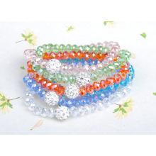 Peach Color Crystal Bracelet,Crystal Glass Beads