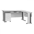 Moderne Büromöbel Stahl Schreibtisch mit Schubladen
