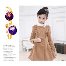 fashion girls coat kids clothes winter coat with fur collar