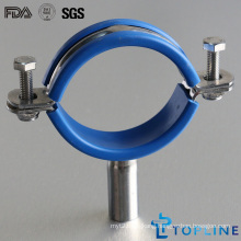 Stainless Steel Sanitary Pipe Holder with Insert