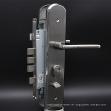 Sicherheitstür Lockset mit Messing-Euro-Profil Zylinder in Satin Nickel Oberfläche Schiebeverschlüsse Sicherheit
