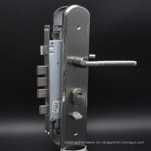 Cerradura de puerta de seguridad con latón Euro Cilindro de perfil de cerradura deslizante de superficie de níquel satinado Seguridad