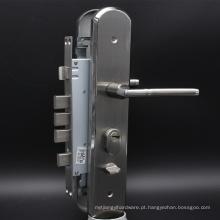 Porta de segurança com travão de latão Euro Cilindro de perfil em aço inoxidável de níquel satinado fechado segurança