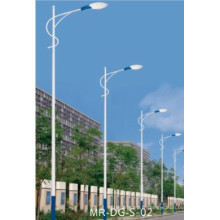 Poteau d'éclairage de rue avec le bras de lampe de bras simple de 8m