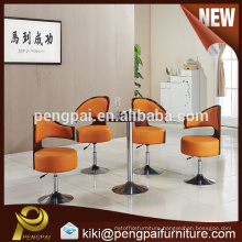 Hotel MDF melamine small round table and reclining chair