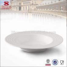 Wholesale vaisselle en porcelaine, assiette à soupe en grès, jantes profondes