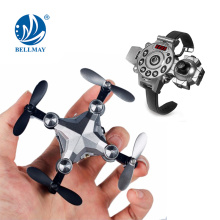 Dron plegable 2.4Ghz Wearable reloj RC Mini Drone cámara con control Wifi