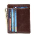 Porte-cartes de crédit en cuir avec blocage RFID