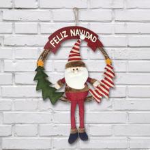 Décoration de Noël murale en bois de décoration de décoration de Noël de vente chaude en environnement