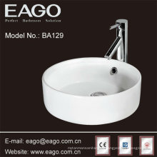 ronda de porcelana lavabo de cerámica lavabo de calidad superior