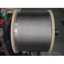 Câble métallique en acier inoxydable 316 7x19 8,0 mm