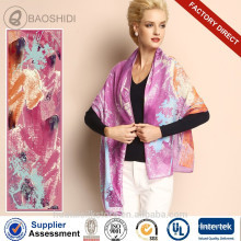 2015 mode 100 écharpe en laine pure châle design le plus récent