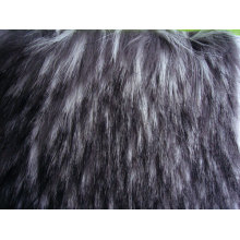 Tip-dyed Jacquard Fabric Fake Fur