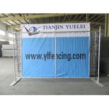 Valla Temporal con Soporte para Evento / Valla Temporal Galvanizada Desmontable / Valla Protectora de PVC para Mercado Cananá
