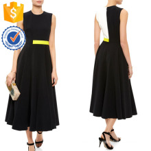 New Fashion Black White And Yellow Sleeveless Dress Manufacture Wholesale Fashion Women Apparel (TA5304D)