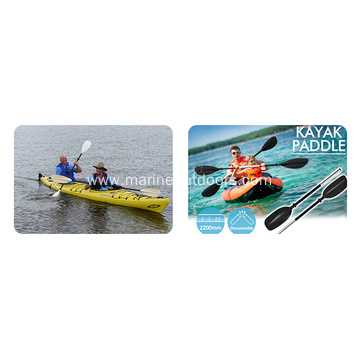 Light Weight Adjustable Multicolor Kayak PP And Aluminum Canoe Paddle