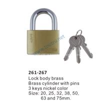 Manilha de aço do hardend do cadeado 261-267 de bronze