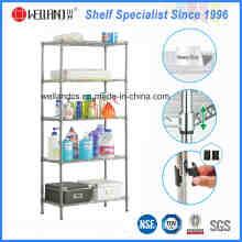 5 Tiers Adjustable Metal Bathroom Corner Rack for Home