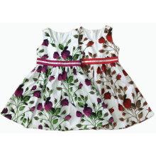Saia do vestido do bebê do vestido da menina da roupa das crianças, desgaste das crianças (SQD-108)
