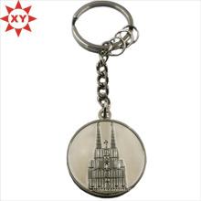 Promotion Castle Metall Misty Silber und glänzend Silber Schlüsselanhänger