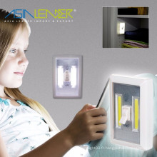 Pour nursery, couloirs, chambres à coucher, armoires sans batterie à l'aide de la technologie Super Bright COB LED Light Switch