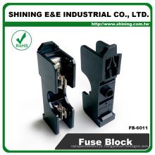 FB-6011 600V 20A Montagem de trilho de jacto 6x30 Screw Fuse Block