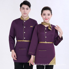Hotel Uniform Tops Apron Hotel Uniforms for Women Restaurant Waitress Uniforms